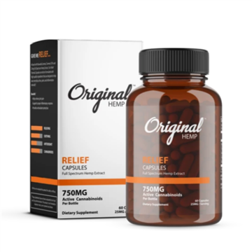 Original Hemp Relief Capsules 750MG