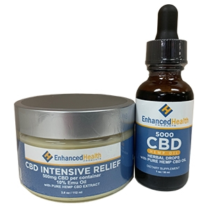 Enhanced Health CBD 3500mg Drops with 1200mg CBD Cream