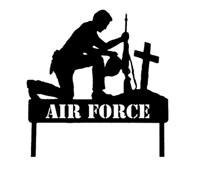 Military Soldier Marker Stake- Air Force