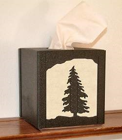 Facial Tissue Box Cover - Tree Design