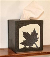 Facial Tissue Box Cover - Maple Leaf Design