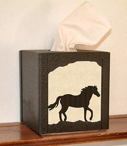 Facial Tissue Box Cover - Horse Design