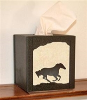 Facial Tissue Box Cover - Galloping Horse Design