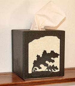 Facial Tissue Box Cover - Oak Leaf Design