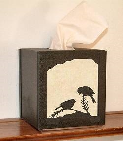 Facial Tissue Box Cover - Chickadee Design