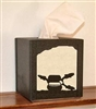 Facial Tissue Box Cover - Fly-Rod Fish Design