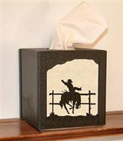 Facial Tissue Box Cover - Bronco Design