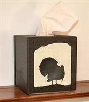 Facial Tissue Box Cover - Turkey Design