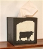 Facial Tissue Box Cover -  Cow Design
