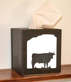 Facial Tissue Box Cover - Bull Design