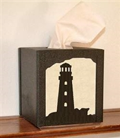 Facial Tissue Box Cover - Lighthouse Design
