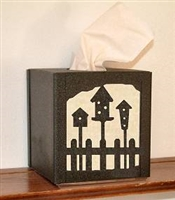 Facial Tissue Box Cover - Birdhouse Design