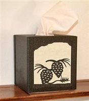 Facial Tissue Box Cover - Pinecone Design