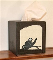 Facial Tissue Box Cover - Raccoon Design