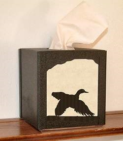 Facial Tissue Box Cover - Flying Duck Design