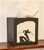 Facial Tissue Box Cover - Skier Design