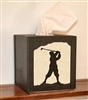Facial Tissue Box Cover - Golfer Design