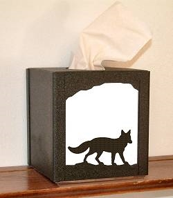 Facial Tissue Box Cover - Fox Design