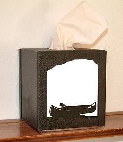 Facial Tissue Box Cover - Canoe Design