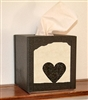 Facial Tissue Box Cover - Heart Design