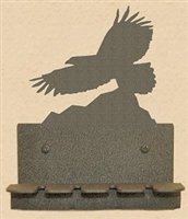 Wall Mounted Eagle Design Rustic Toothbrush Holder