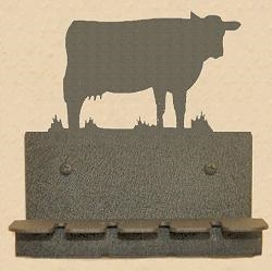 Wall Mounted Toothbrush Holder- Cow Design