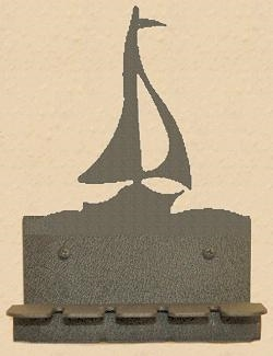Wall Mounted Toothbrush Holder- Sailboat Design