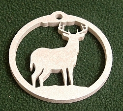 Wildlife Christmas Tree Ornament- Deer Design