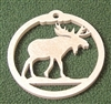 Wildlife Christmas Tree Ornament- Moose Design