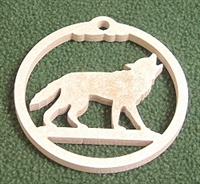 Wildlife Christmas Tree Ornament- Wolf Design