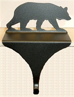 Wildlife Christmas Stocking Mantle Hook- Bear Design