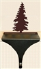 Wildlife Christmas Stocking Mantle Hook- Pine Tree Design