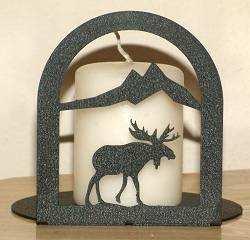 Arched Candle Holder - Moose Design