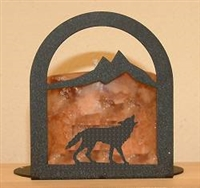 Arched Candle Holder - Wolf Design