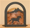 Arched Candle Holder - Horse Design