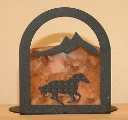 Arched Candle Holder - Galloping Horse Design