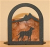 Arched Candle Holder - Lab Retriever Design
