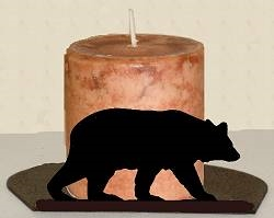 Silhouette Candle Holder - Bear Design