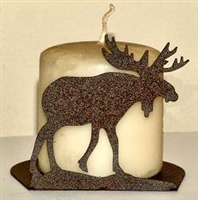 Silhouette Candle Holder - Moose Design