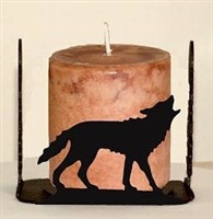 Silhouette Candle Holder - Wolf Design