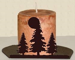 Silhouette Candle Holder - Tree Design