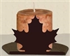 Silhouette Candle Holder - Maple Leaf Design