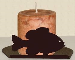 Silhouette Candle Holder - Pan Fish Design