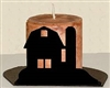 Silhouette Candle Holder - Barn Design