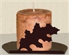 Silhouette Candle Holder - Oak Leaf Design