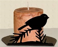 Silhouette Candle Holder - Chickadee Design