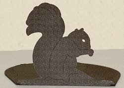 Silhouette Candle Holder - Squirrel Design