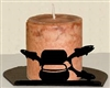 Silhouette Candle Holder - Fly-Rod Fish Design
