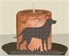 Silhouette Candle Holder - Lab Retriever Design