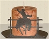 Silhouette Candle Holder - Bucking Bronco Design